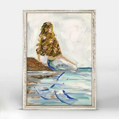 Mermaid In The Sea- Brunette Canvas