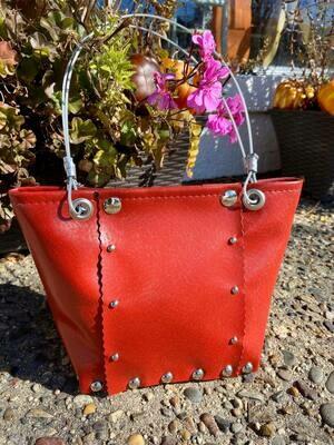 Hot Red Marine Boat Vinyl Handbag