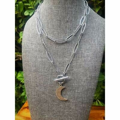 Moon Toggle Necklace