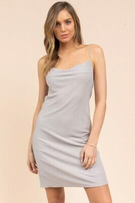 Cowl Mini Dress