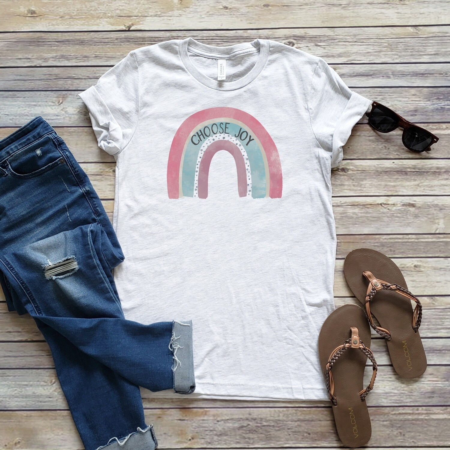 Choose Joy Rainbow Tee