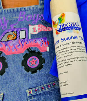 """FLORIANI WATER SOLUBLE TOPPING 10""""x10yrds"""
