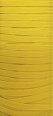Yellow - 1/4 inch - 6mm Braided Elastic
