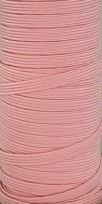 Pink - 1/4 inch - 6mm Braided Elastic