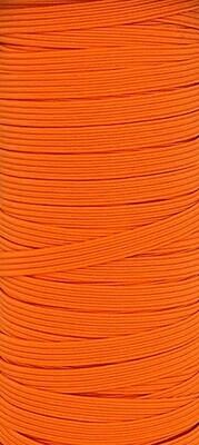 Orange - 1/4 inch - 6mm Braided Elastic