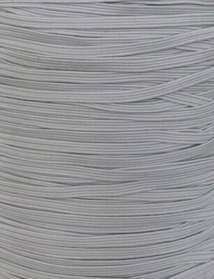 "Braided Elastic 1/8"" - 3mm - White"