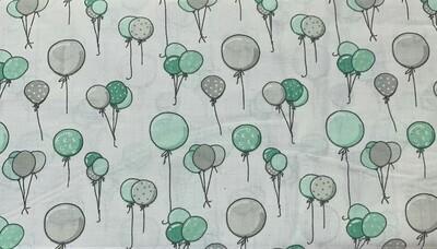 Grey & Teal Balloons