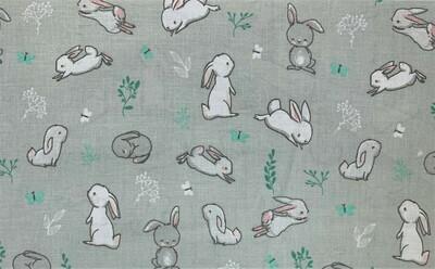 Grey & Teal Bunnies