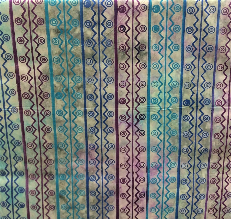 Multi Coloured Light Print Zig Zag
