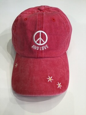 Peace and love baseball cap