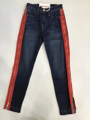 Full side zipper skinny jean