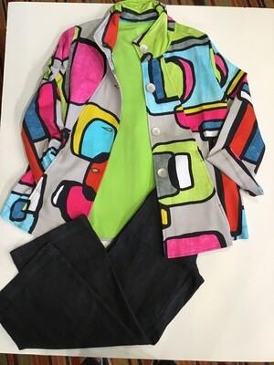 Retro button front knit jacket