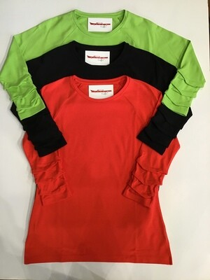 3/4 rousched sleeve tunic tee