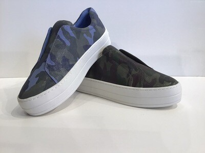 Camouflage Laceless Slip-on Sneakers