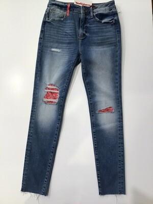 Bandana Patch Skinny Jean