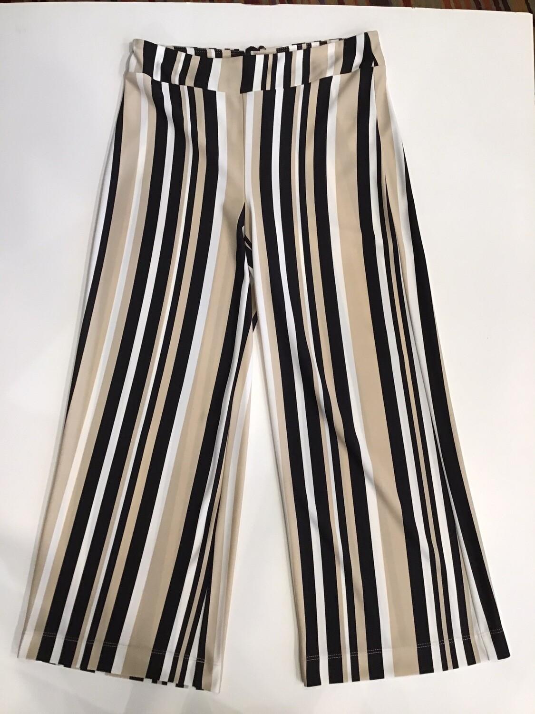 Stripe crop pajama pant