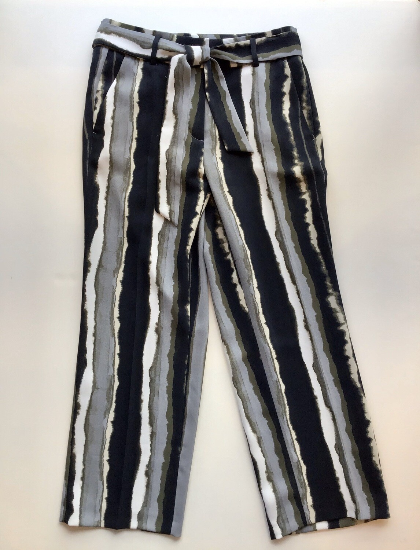 Stripe crop tie pant