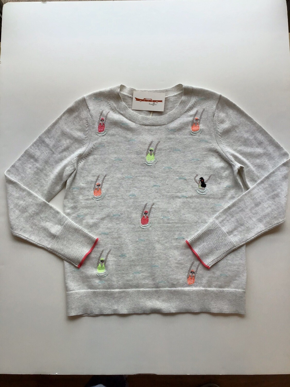 Swim team cotton sweater