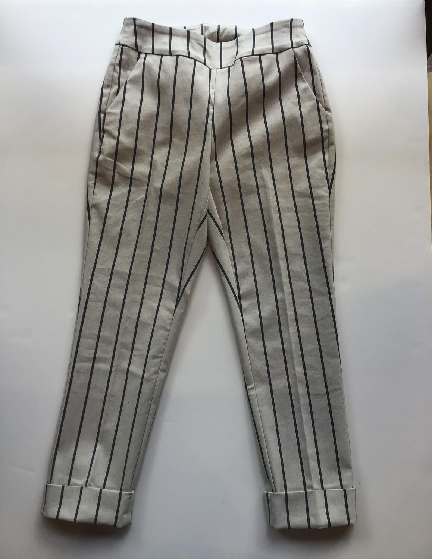 Sparkle stripe  pull on cuffed capri
