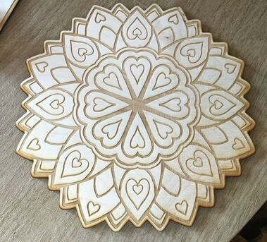 Love/Hearts Crystal Grid (8-inch)