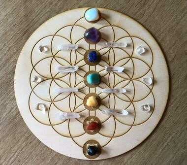 Flower of Life-Chakra Soul Points (8-inch) Grid