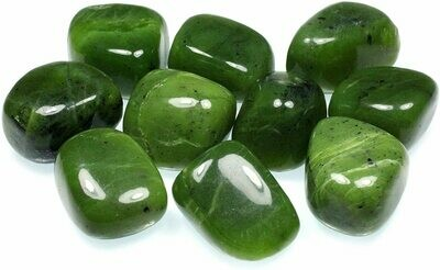 Jade Crystal Stone (Dark Green/Henna)