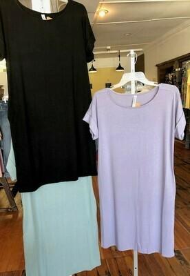 T-Shirt Dress w/pkts