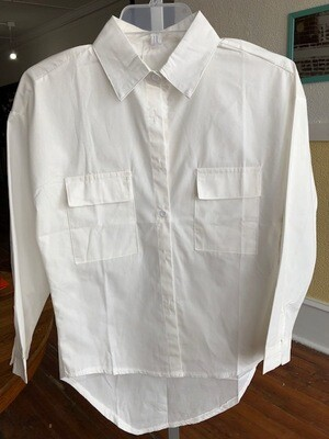 Basic Button Down Wht
