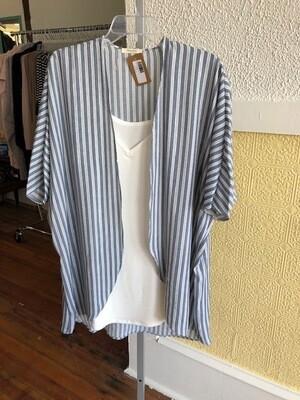 Striped Kimono Nvy/Ivory