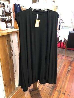 Plus Sleeveless Vest Black