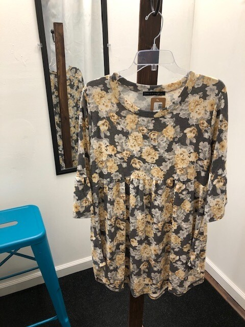 Plus Flower Print Tunic