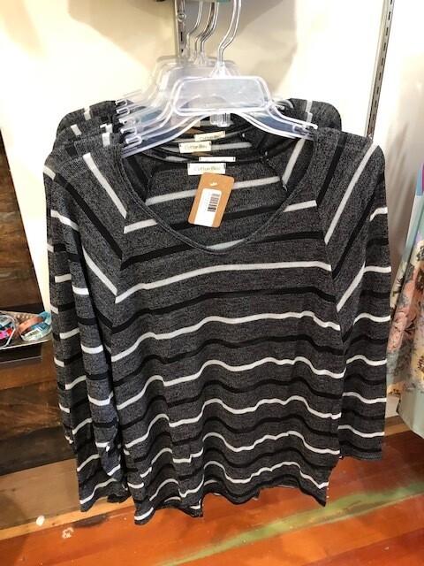 Striped Shear Sweater