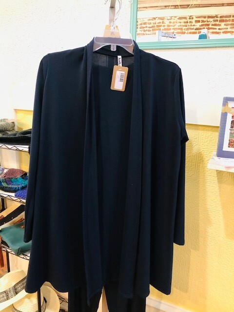 Navy Long Sleeve Winter Cardigan