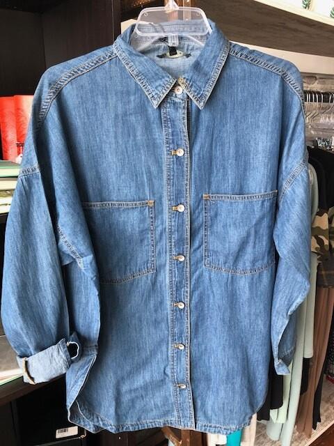 Denim Shirt Long Sleeve
