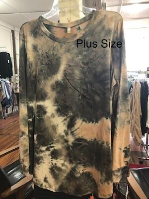 Tie Dye Long Sleeve Plus