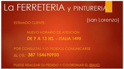Ferreteria y Pintureria San Lorenzo