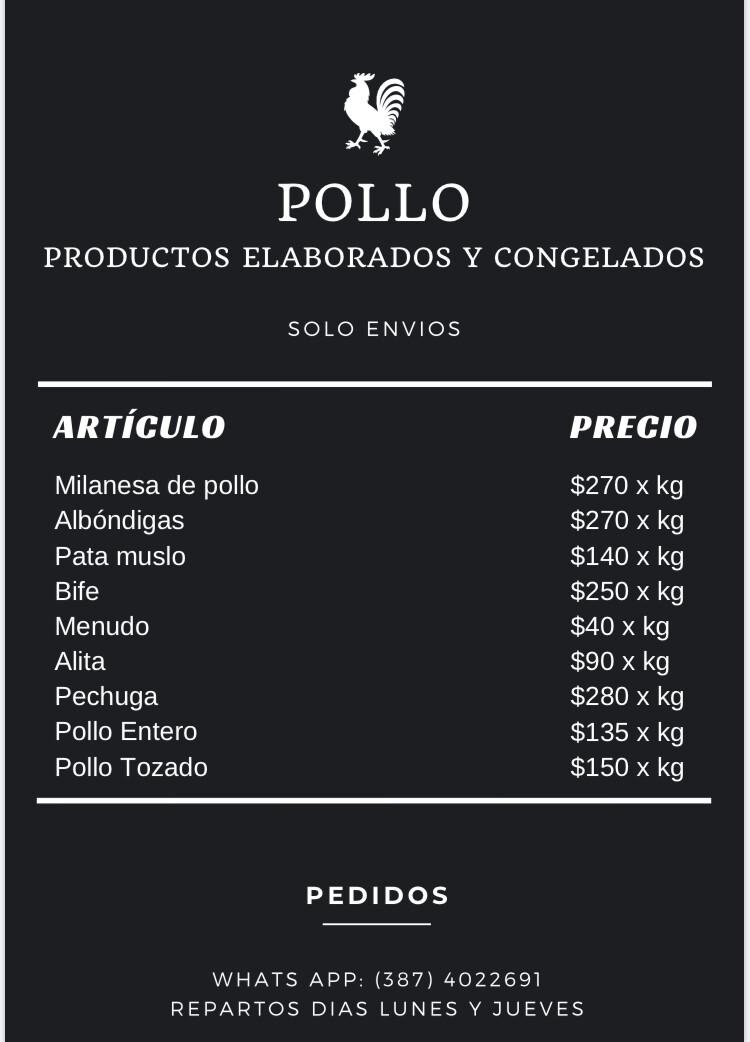 Pollo Productos