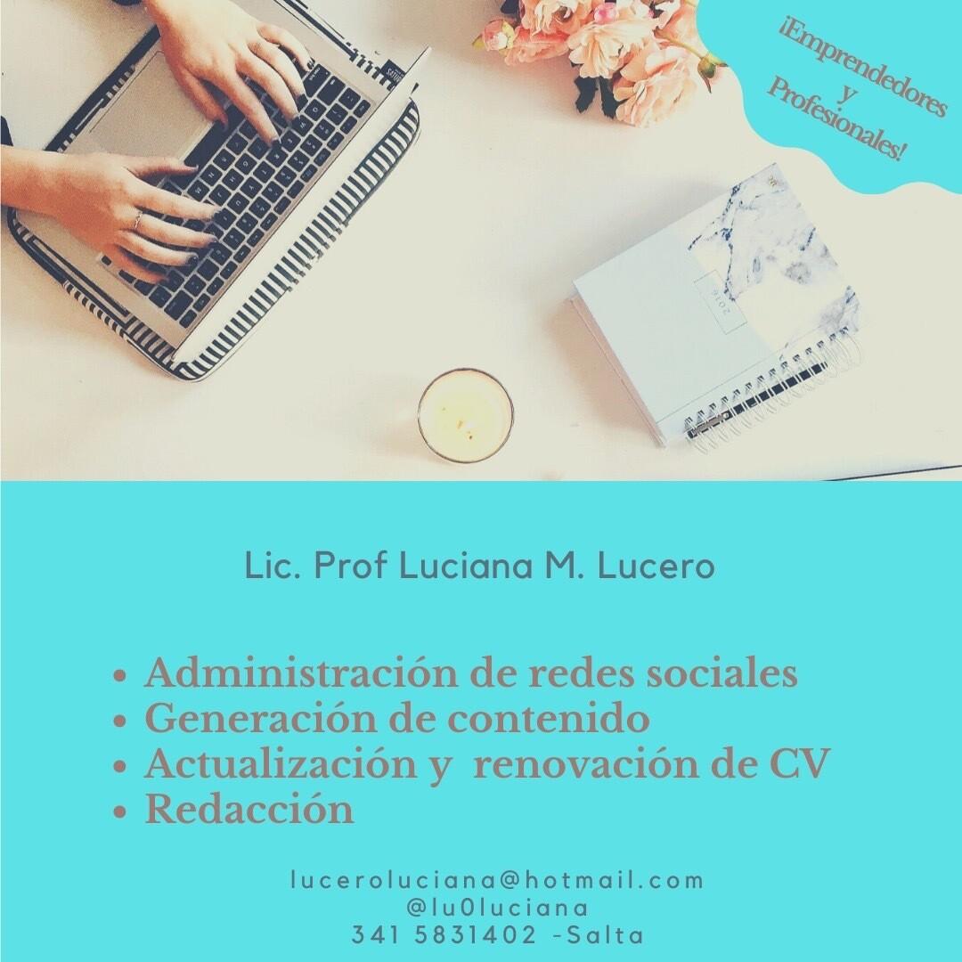 Luciana Lucero Redes y Contenido