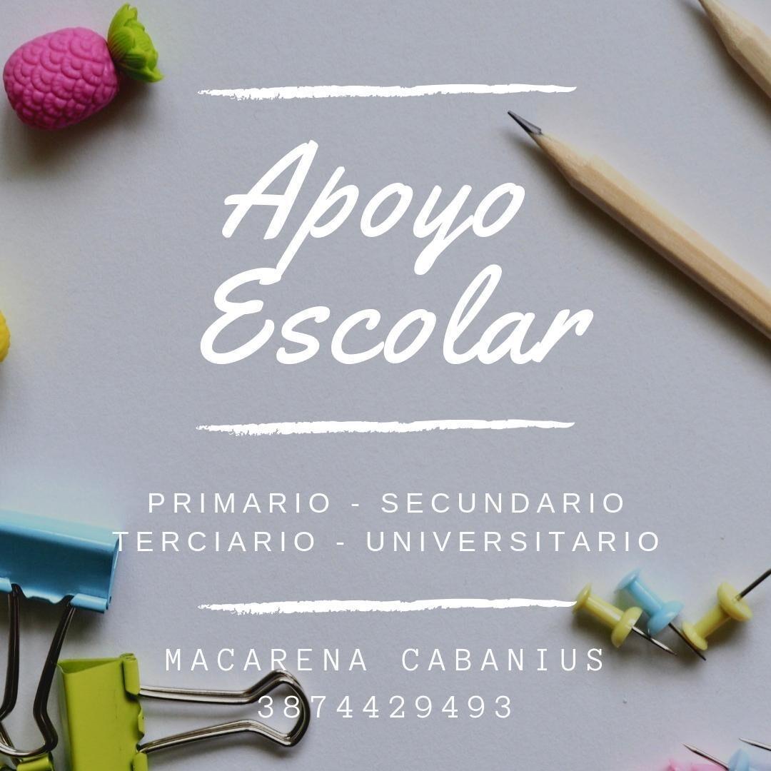Macarena Cabanius Apoyo Escolar