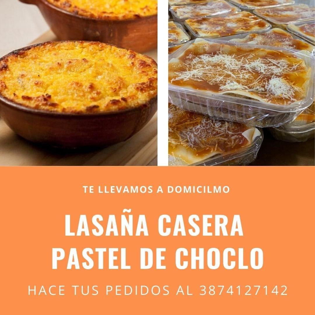 Lasaña y Pastel de Choclo Casero