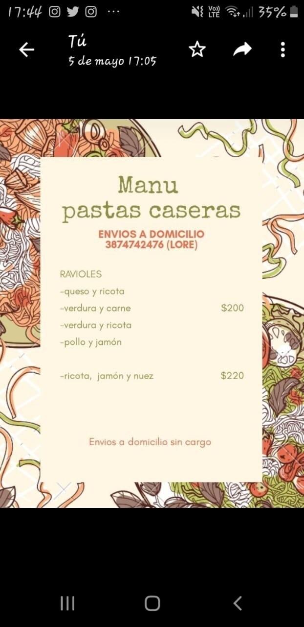Manu Pastas Caseras