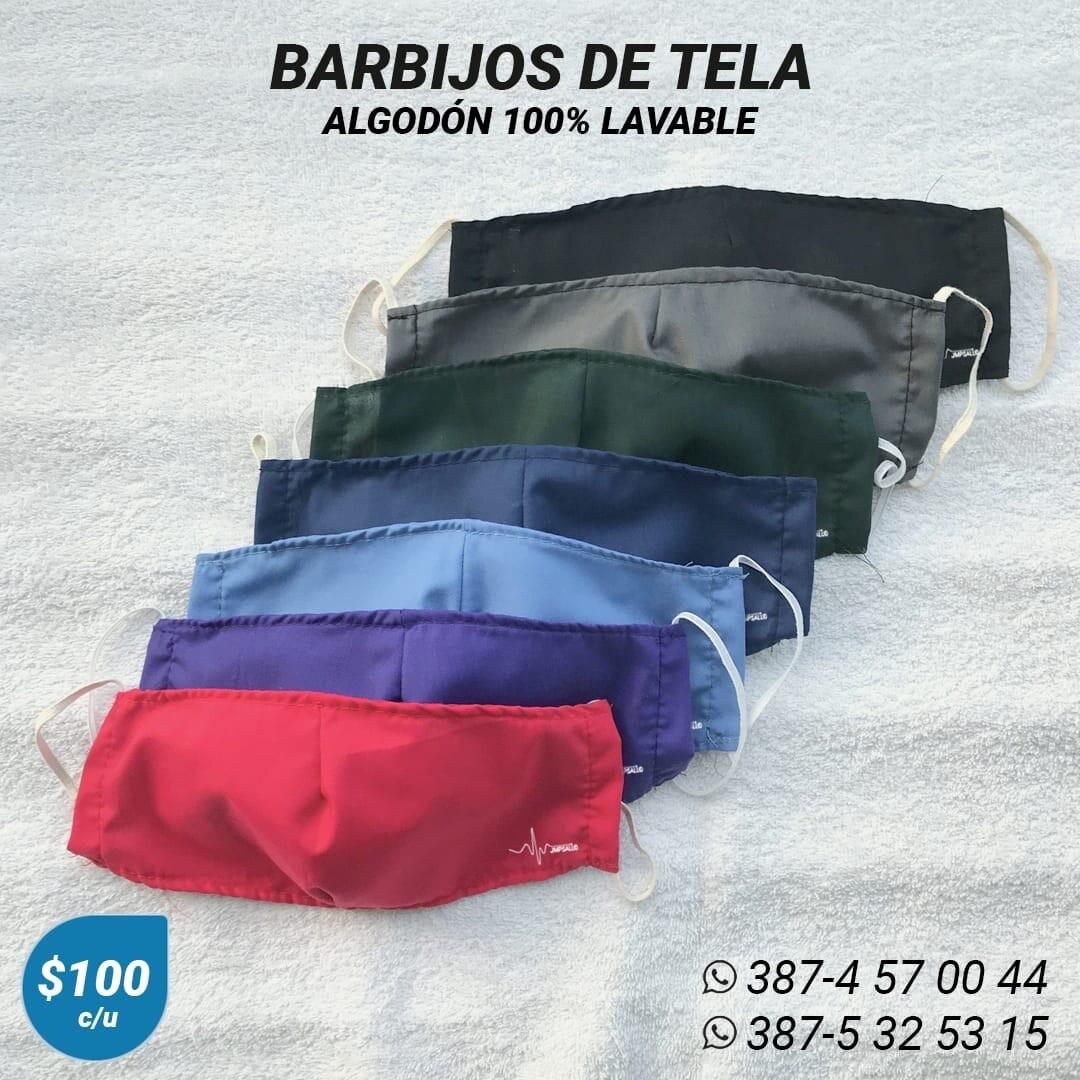 Barbijos Tela 100% lavables