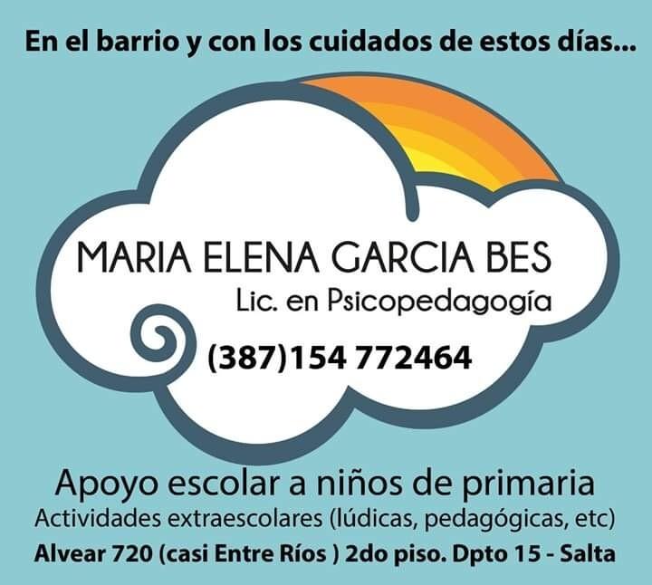 Ma.Elena García Bes Psicopedagogía