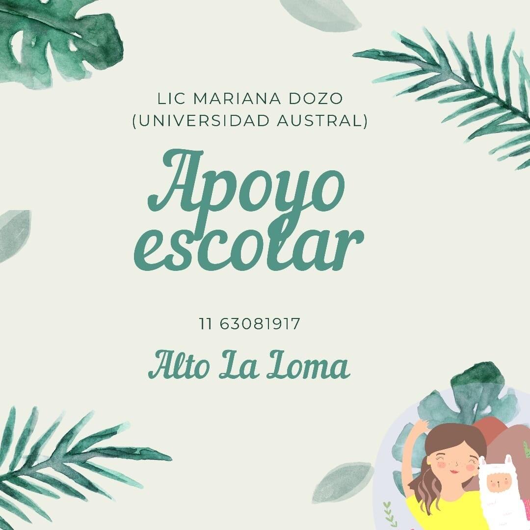 Mariana Dozo Apoyo Escolar