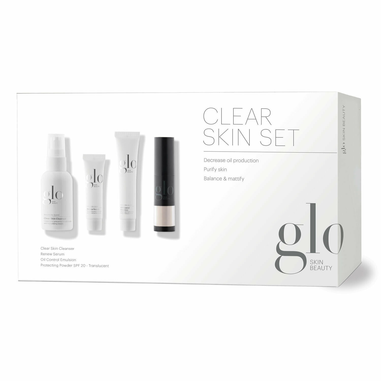 Skin Care Set - Clear