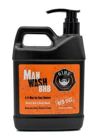 Gibs Man Wash Beard Hair and Body Wash - Liter