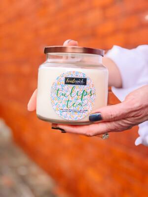 Tulips & Tea 16oz Candle