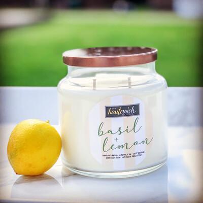 Basil & Lemon 16oz Candle