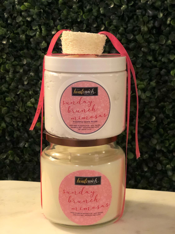 Sunday Brunch Mimosas - Candle + Whipped Body Wash Bundle