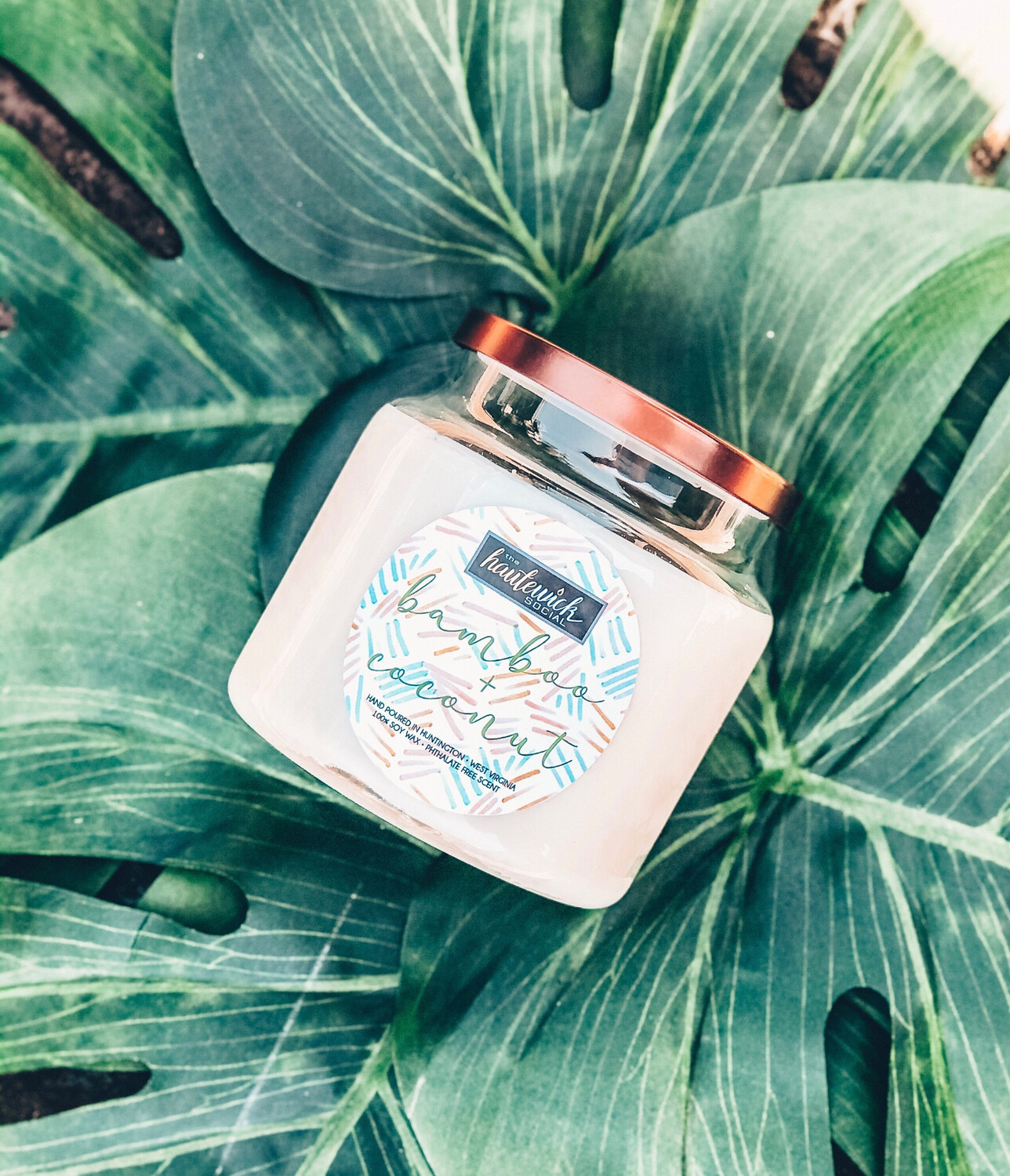 Bamboo + Coconut 16oz Candle